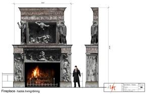 Hades Fireplace Study