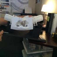Collapsed hallway model