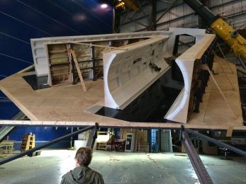 Tilted ship's hallways