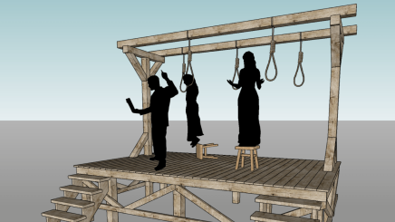 Stage as gallows