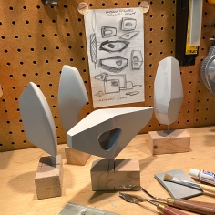 Playing with forms inspired by modernist sculptors